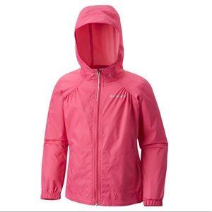 Girls Pink Columbia Windbreaker
